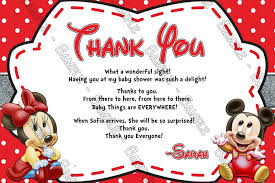 minnie mouse thank you cards novel concept designs baby mickey minnie mouse gender