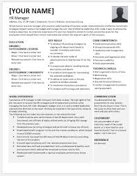 Resume Template Odt Human Resource Manager Resume Contents Layouts U0026 Templates
