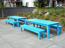Teal Dining Table by 95
