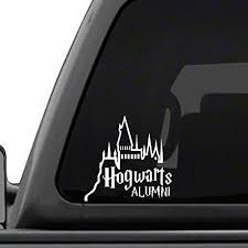 hogwarts alumni bumper sticker hogwarts alumni castle 6 car truck vinyl decal