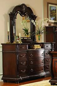 palace rich brown leather sleigh bedroom set from homelegance