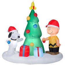 peanuts airblown inflatables airblown peanuts christmas tree