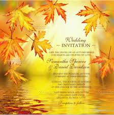 Free Sample Wedding Invitations Fall Invitation Templates 24 Fall Wedding Invitation Templates