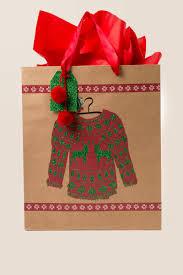 ugly christmas sweater large gift bag francesca u0027s
