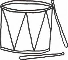 drum coloring sheet