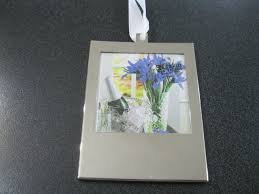 silver picture frame ornament