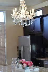 home reveal kitchen island chandelier veronika u0027s blushing