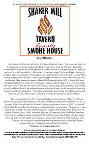 berkshiremenus com shaker mill tavern family smoke house