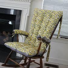 martini mustard rocking chair cushions from mayberryandmain on