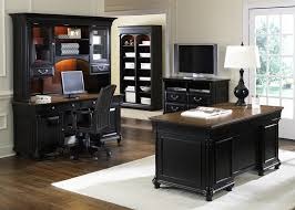 Black Home Office Furniture Ives 5 Jr Executive Home Office Set In Two Tone Finish By
