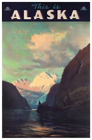 Alaska travel media images Vintage alaska travel poster 1930 39 s alaska travel travel jpg
