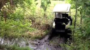 electric 4 wheel drive golf cart in the swamp performance carts