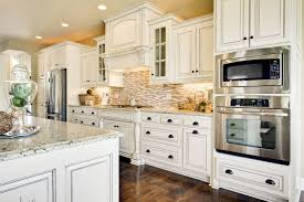 Ivory Colored Kitchen Cabinets Granite Countertop Kitchen Cabinet Soft Close Subway Tile