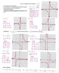 graphing rational functions worksheet answers 28 images