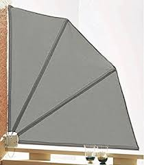 balkon trennwand sichtschutz fächer 120x120cm balkon trennwand grau de
