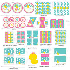 rubber ducky baby shower decorations printable