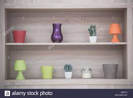concepts in home design wall ledges home decoration on shelf modern home design concept stock photo