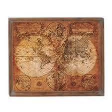 Map Wall Decor by 34 In X 41 In Mdf Antique World Map Wall Decor 20327 The Home