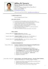 resume format exles for interior design cv template paso evolist co