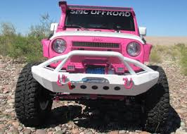 white and pink jeep pink customized jeep wranglers