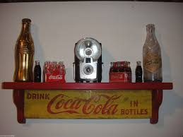 amazon com coca cola wooden wall display shelf crafted from