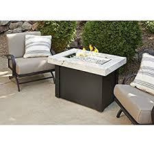 Patio Table With Firepit by Amazon Com Outdoor Great Room Providence Crystal Fire Pit Table