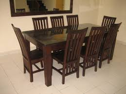mission style dining room furniture dark brown mission style dining chairs with gray saddle combined