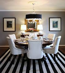 White Leather Dining Room Chairs Alluring Dining Space Desaign With White Leather Dining Chair On