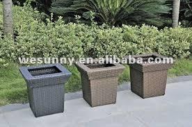 outdoor furniture pe wicker poly rattan planter pot buy wicker