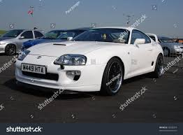 toyota supra modified northants england may 11 white toyota stock photo 75228319
