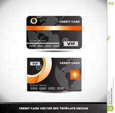 Credit Card Design Template Orange Circle Black Vip Credit Card Vector Template Stock Vector