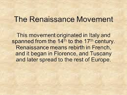 do now what does the word renaissance the renaissance