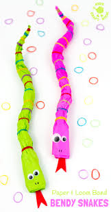 bendy paper u0026 loom band snake craft kids craft room