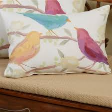 bird song decorative indoor outdoor pillows