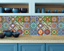 mexican tiles for kitchen backsplash splashback 24 units tile stickers kitchen decals wall mural stairs