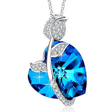 blue heart necklace images Confessions jewelry mega creative jewelry 925 sterling silver jpg