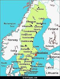 map of sweden sweden map with airports travelquaz