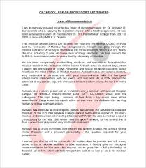 Medical Student R by Letter Of Recommendation For Student 6 Free Sample Example
