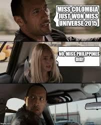 Colombia Meme - the rock driving meme imgflip