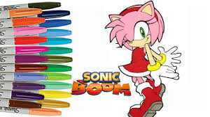sonic boom coloring book page amy rose coloring sonic sprinkled