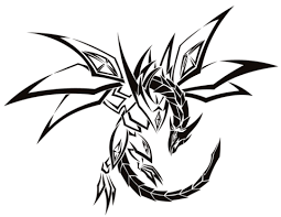 tribal dragon tattoo coloring page free printable coloring pages
