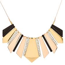 gold necklace statement images Geometric gold black pav crystal statement necklace icing us jpg