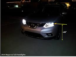 nissan pathfinder xenon headlights 2014 rogue led headlight level nissan forum nissan forums