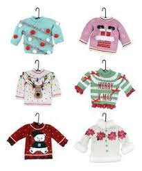 ganz ugly sweater christmas ornaments set of 6 32 95