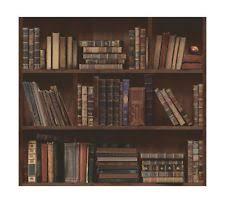 wallpaper that looks like bookshelves bookshelf wallpaper ebay