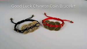 good luck chinese coins bracelet youtube
