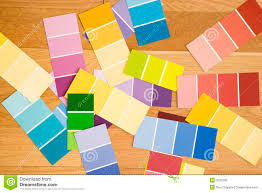 color swatches color paint swatches stock image image of choices mess 3533295