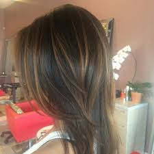 long brown hairstyles with parshall highlight caramel balayagd on dark brown hair balayage ombre foliage