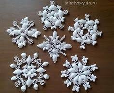 diy pasta snowflakes tree ornaments gold crafts this site
