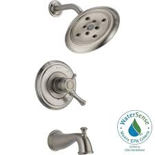 Home Depot Bathroom Shower Fixtures by Delta Cassidy 1 Handle H2okinetic Tub And Shower Faucet Trim Kit